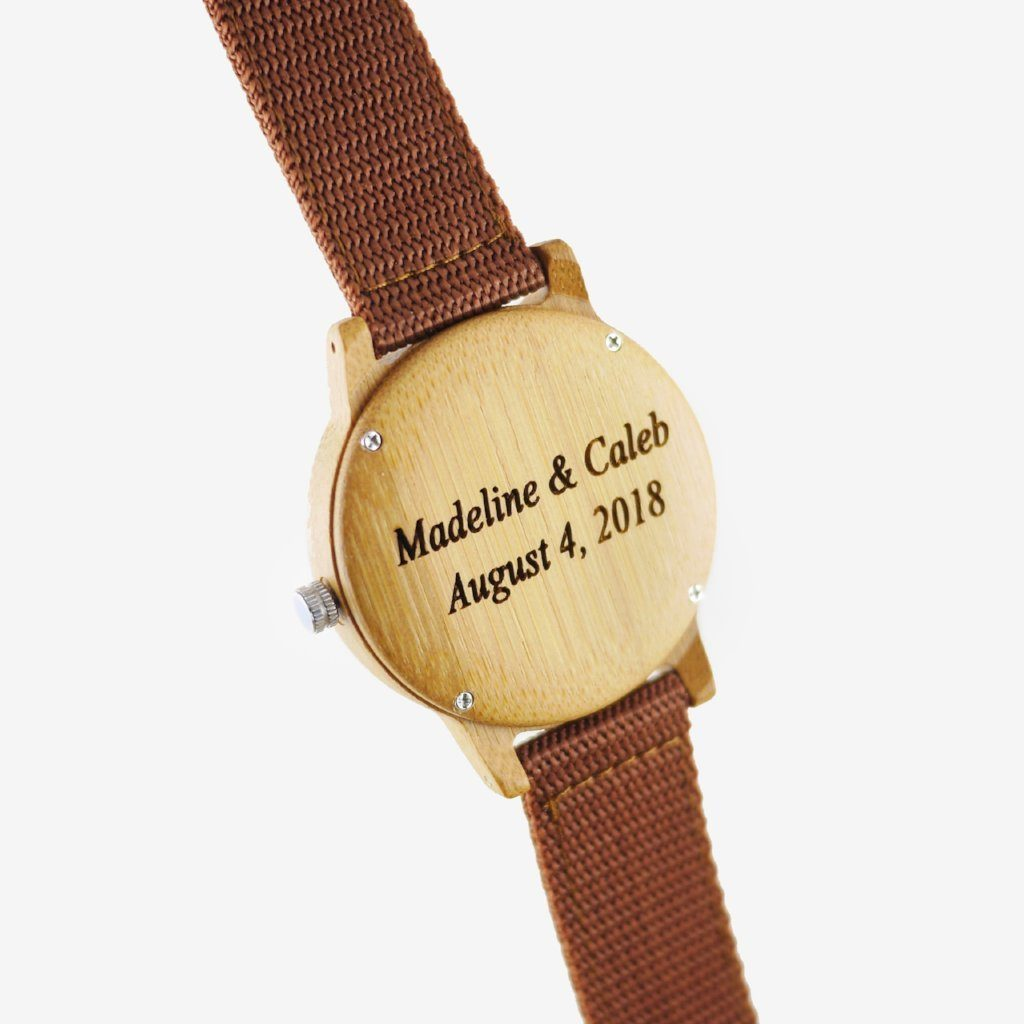 personalized bamboo wooden watch