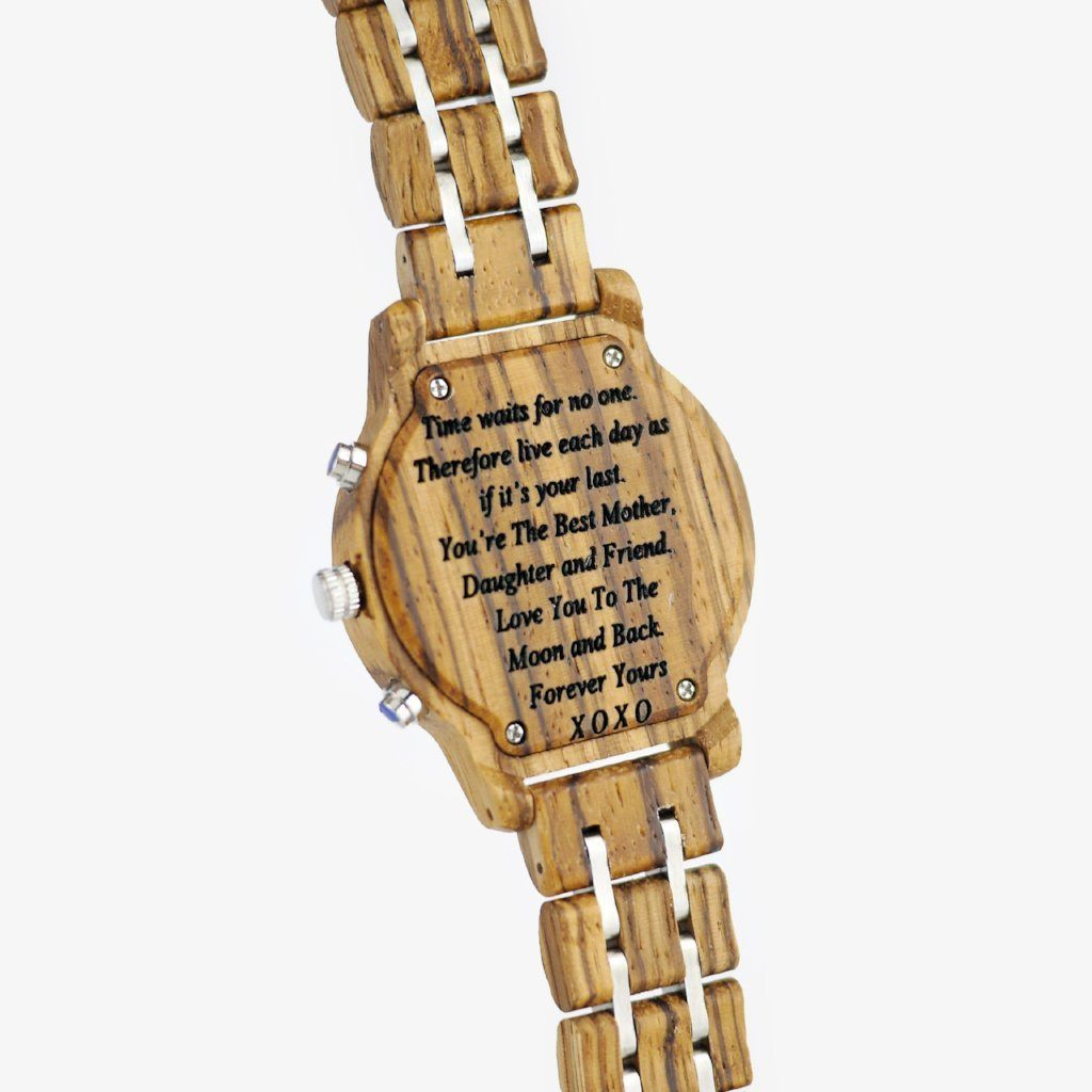 personalized wood watch for women
