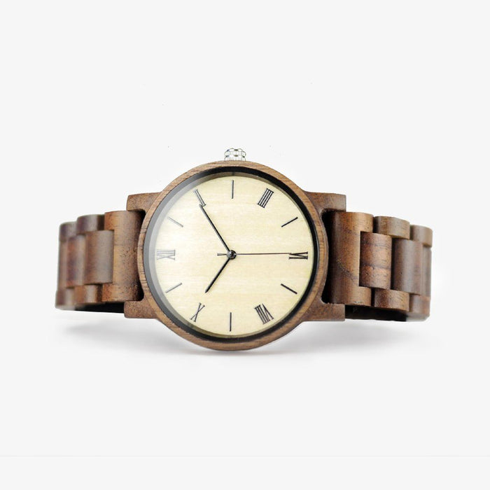 The Minimalist - Walnut Wood Watch - Wood Band