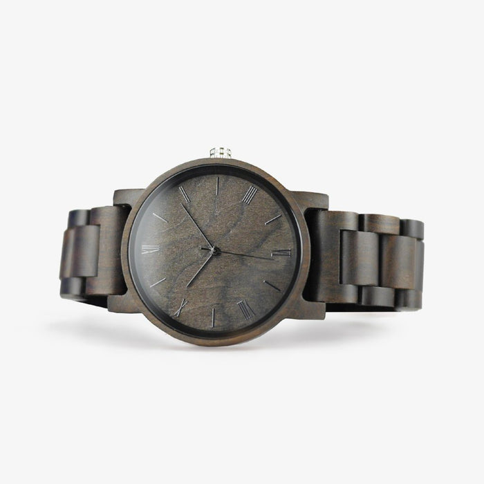 minimalist wooden watch