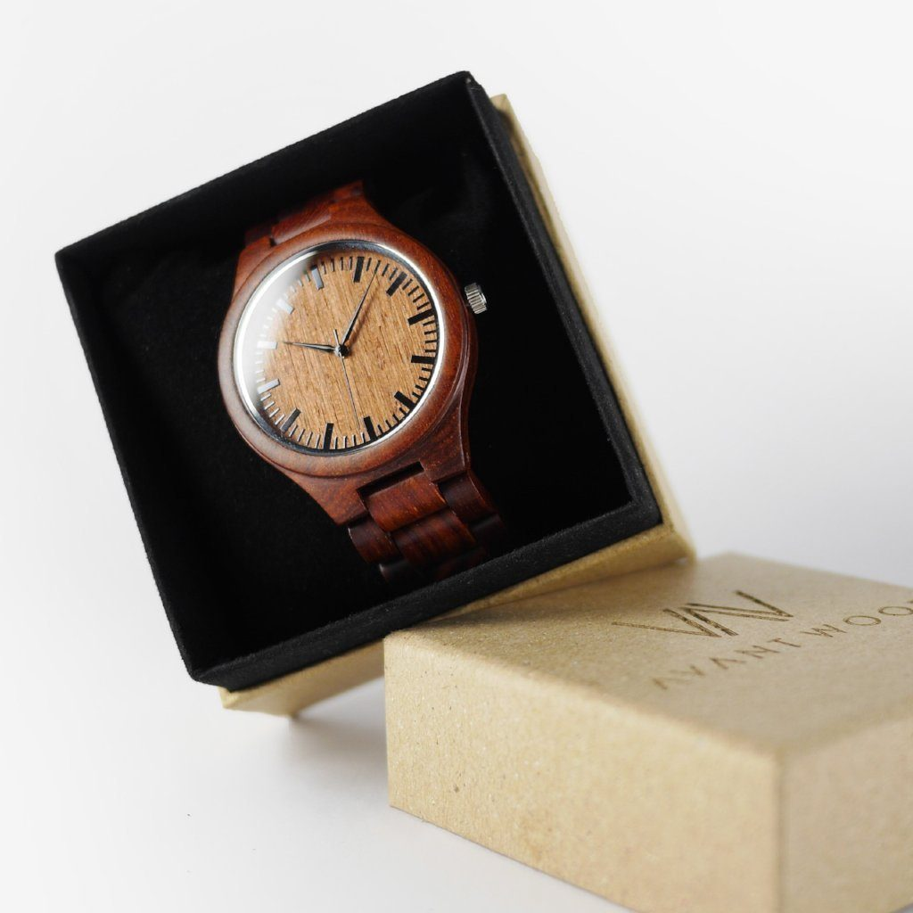 red sandalwood watch