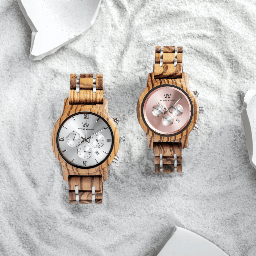 CHRONO S - PINK ROSE - ZEBRA WOOD - WOMEN'S