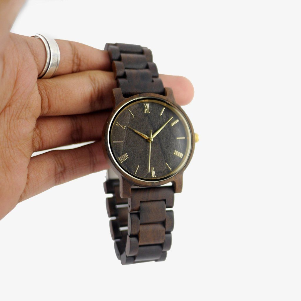 men's minimalist wood watch