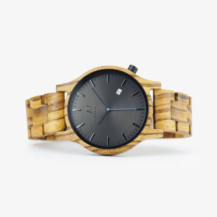 urban classic zebra wood watch