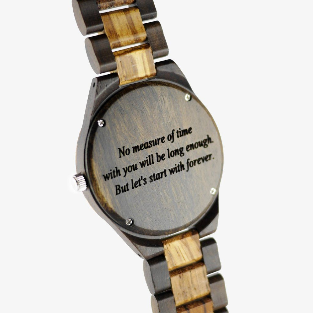 CLASSIC - ZEBRA WOOD WATCH - WOOD BAND - AVANTWOOD