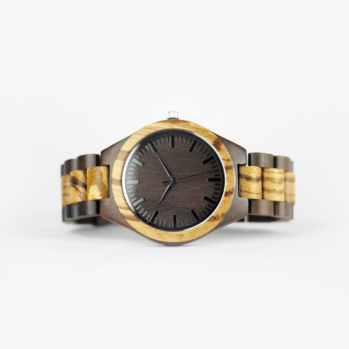 zebra wood watch for men