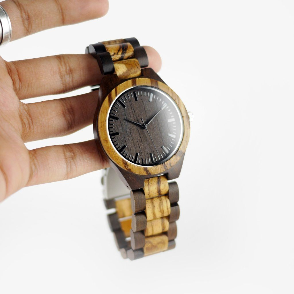 hand crafted wood watch