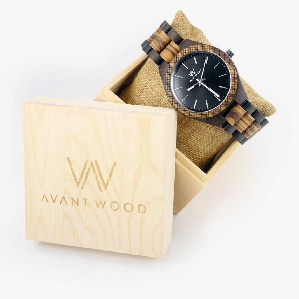 personalized gift wood watch
