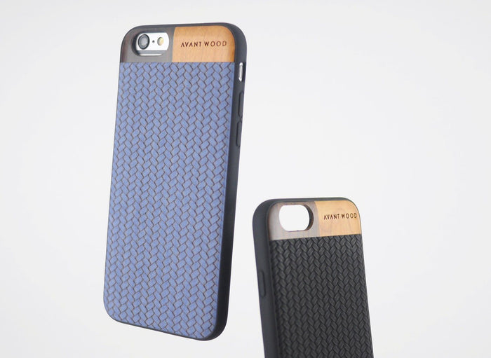 Premium Leather Case - Blue & Black