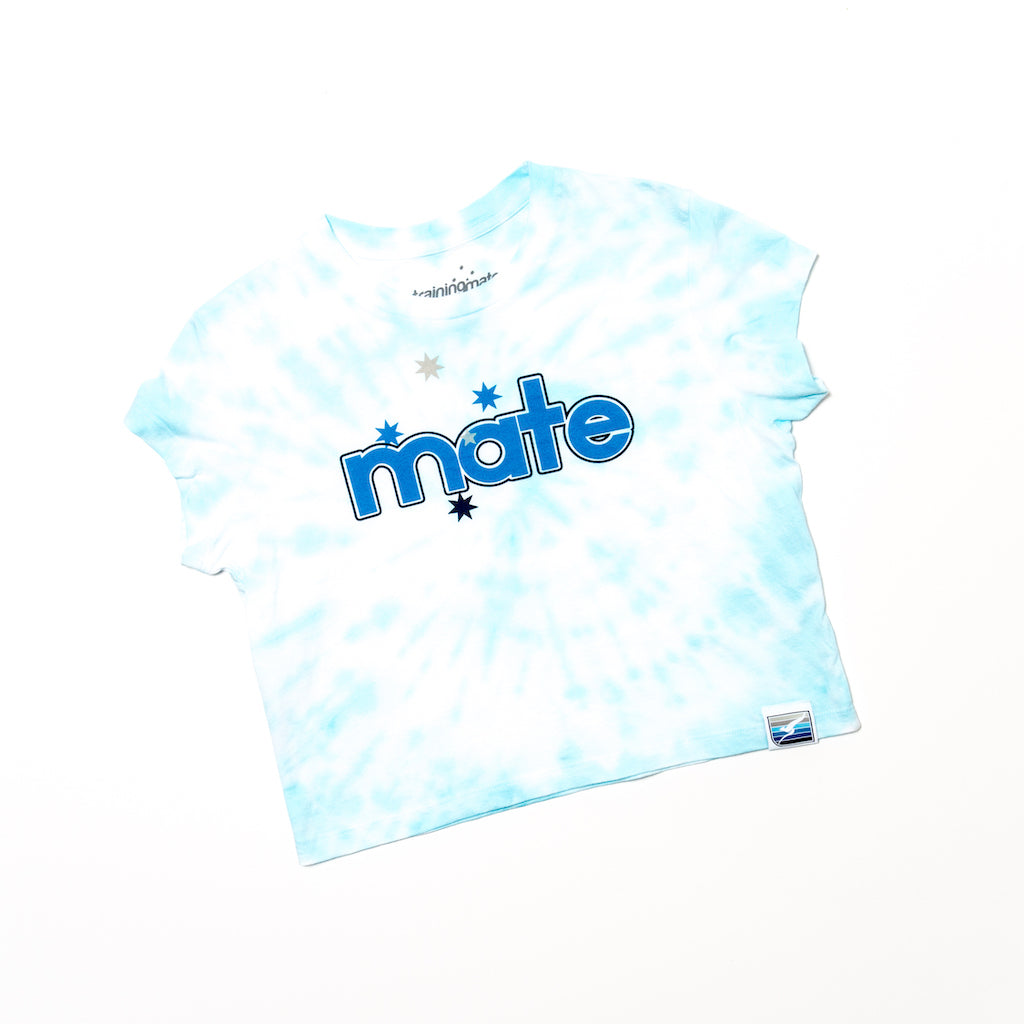 Tie Dye Mate Crop (Blue)