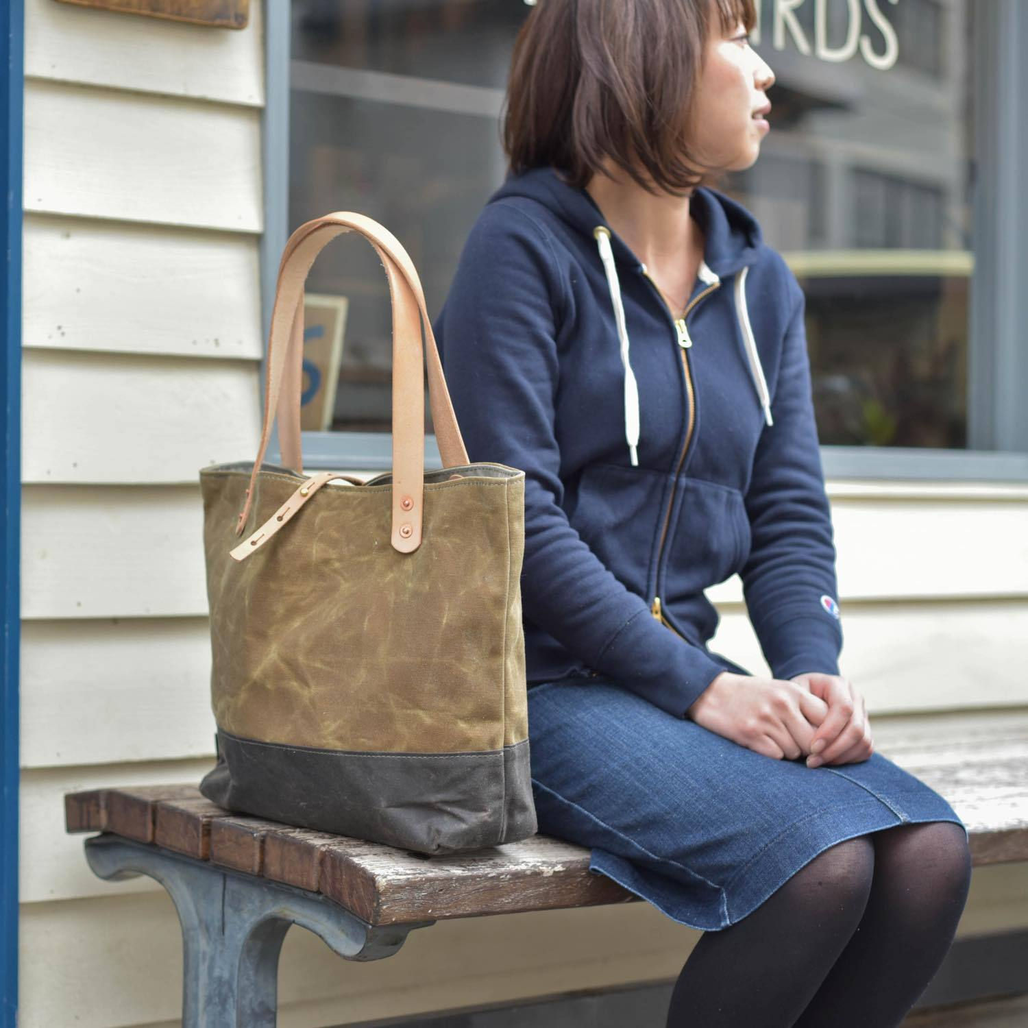 STRAWFOOT Simple Musette Waxed Canvas