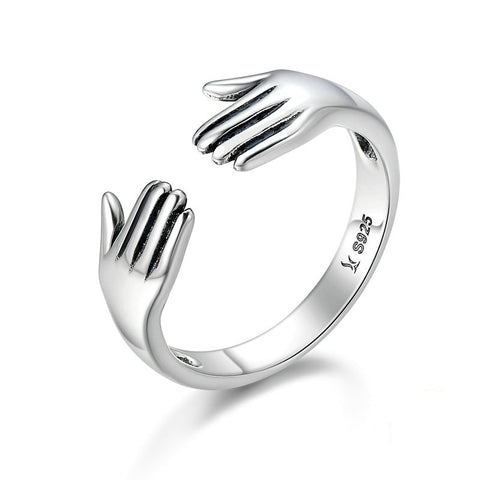 Sterling Silver Hug Me Ring