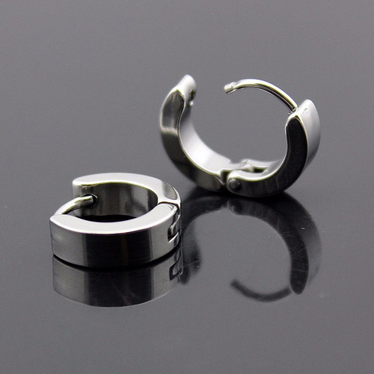 Punk Stainless Steel Hoop Earrings