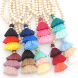 Festive Ombre Tassel Necklace