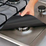 4 Piece Reusable Eco-Friendly Gas Range Stove Top Burner Guard