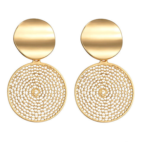 Dream Catcher Disc Drop Earrings
