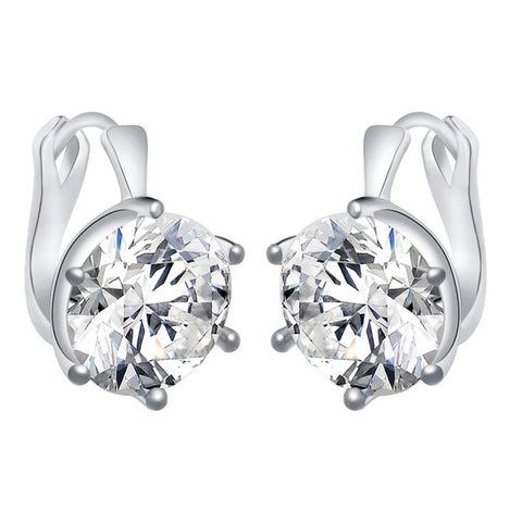 Chunky Cubic Zirconia Drop Earrings