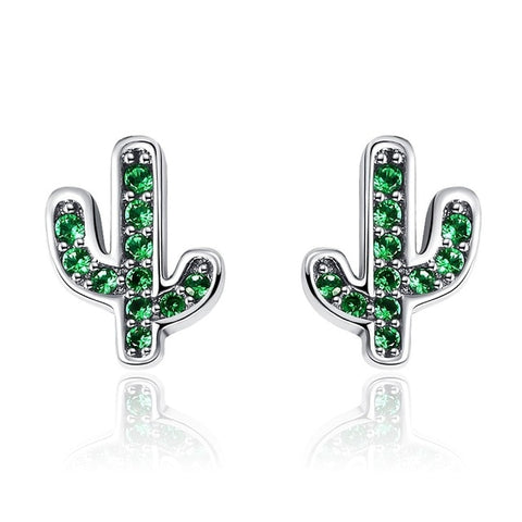 Sterling Silver Desert Cactus Earrings