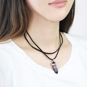 Quartz Power Amplifier Choker Necklace