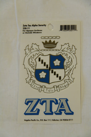 Zeta Tau Alpha Decal Sticker