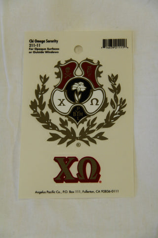 Chi Omega Decal Sticker
