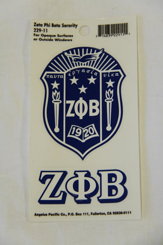 Zeta Phi Beta Decal Sticker