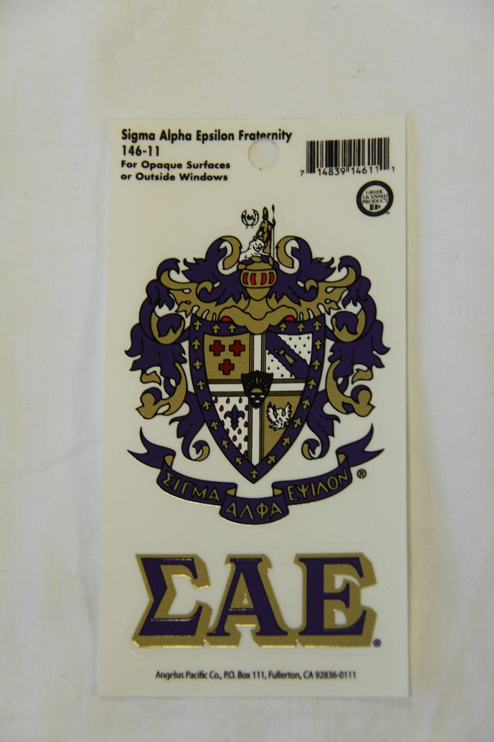 Sigma Alpha Epsilon Decal Sticker