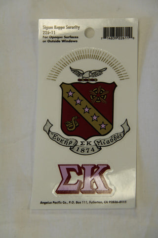 Sigma Kappa Decal Sticker