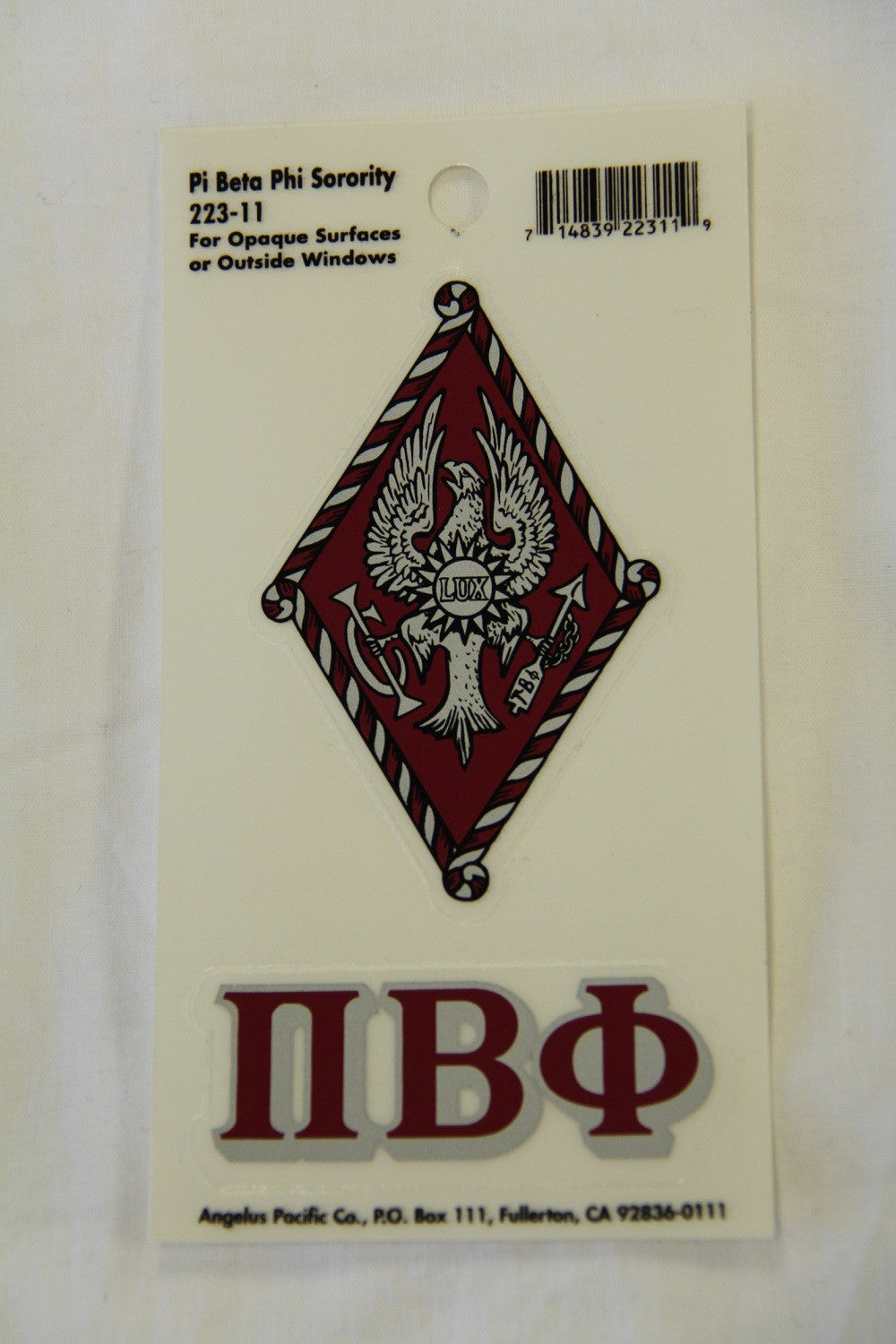 Pi Beta Phi Decal Sticker