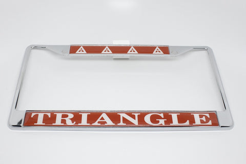 Triangle License Plate Frame