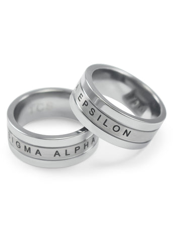 Sigma Alpha Epsilon Tungsten Ring