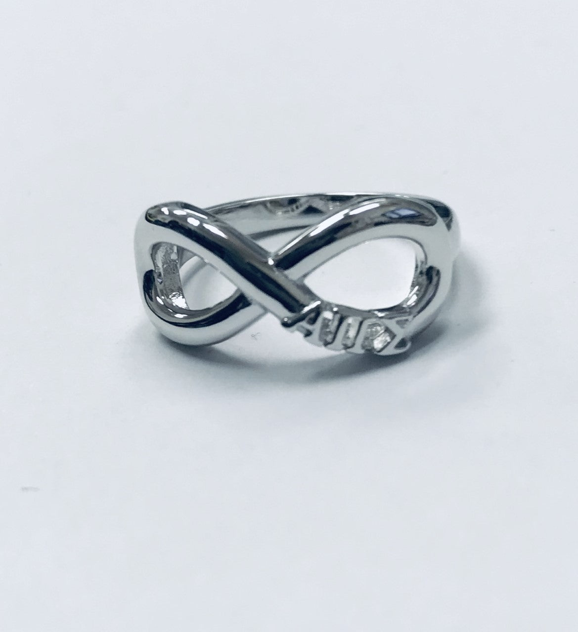 Alpha Pi Sigma Infinity Ring with Greek Letters