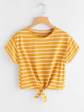 Casual Striped Tee T618292