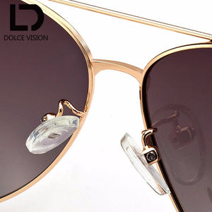 Gold Frame Polarized  Gradient Sun Glasses Woman (Discount 50%) S526782