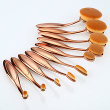 10 Pcs Rose Gold Make Up Brush M289100