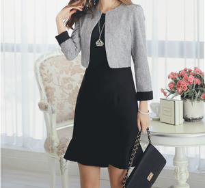 Grey Executive Dress C526783
