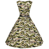 Army Green Vintage Dress