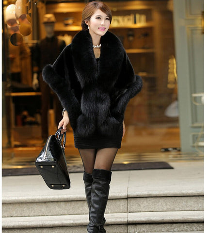 Faux Fur Cape Coat