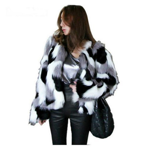 Faux Fur Multi Color Jacket