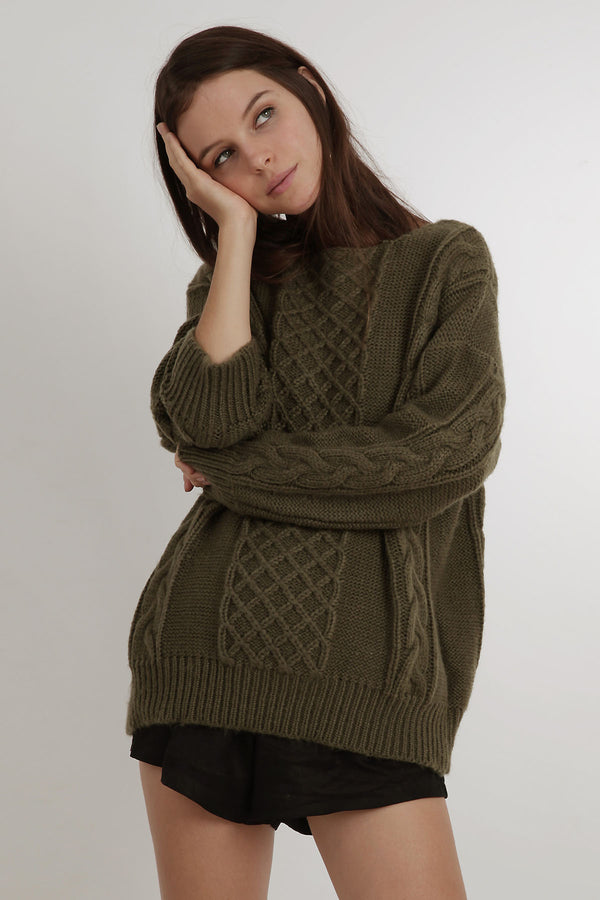 Cable Knit Jumper Jumpers & Sweaters blubellafashion.myshopify.com