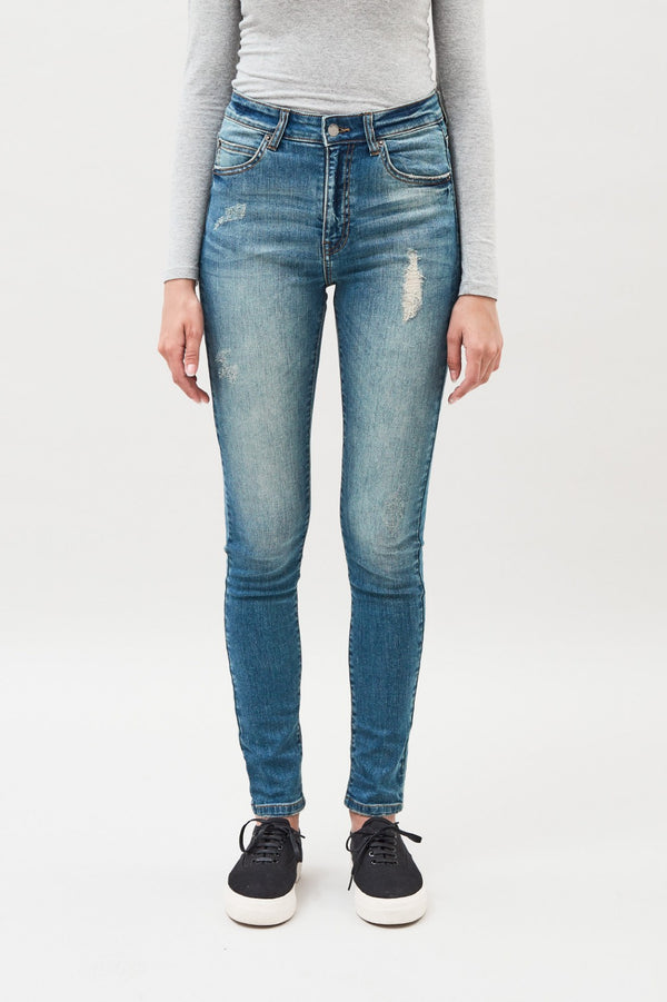 Erin Jeans - Railroad Blue - BlubellaFashion