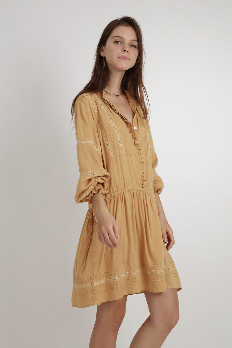 Harper Dress - Marigold - BlubellaFashion