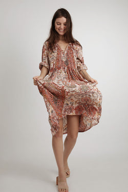 Natalia Dress Paisley - BlubellaFashion