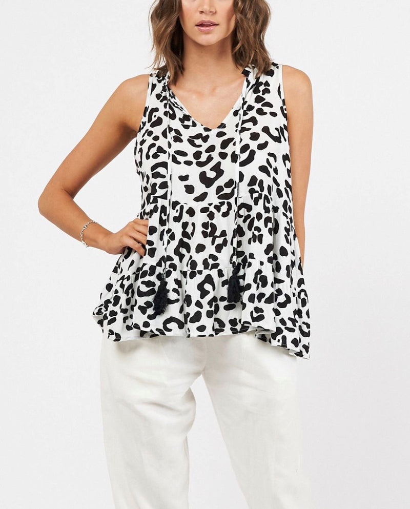 Panther White Top Tops blubellafashion.myshopify.com