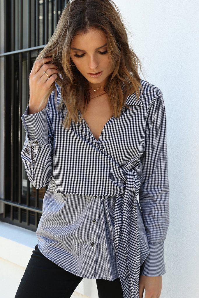 Alessia Gingham Shirt - BlubellaFashion