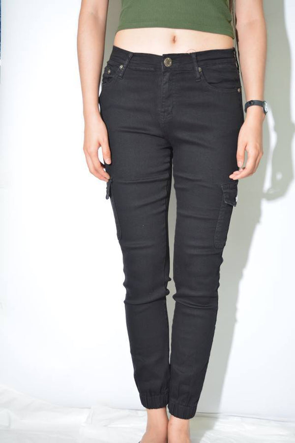 Black Jogger Jean - BlubellaFashion