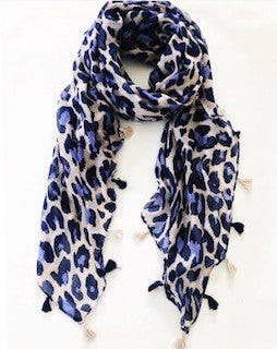 Blue Tassel Scarf - BlubellaFashion