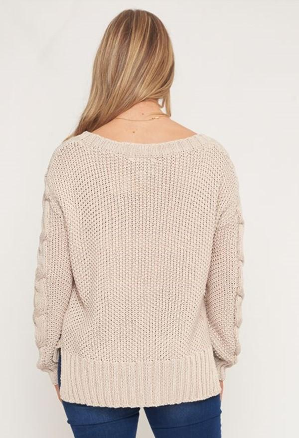 Cable Knit Jumper - BlubellaFashion