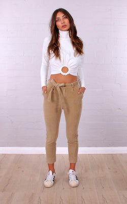 Cord Mom Pant - BlubellaFashion