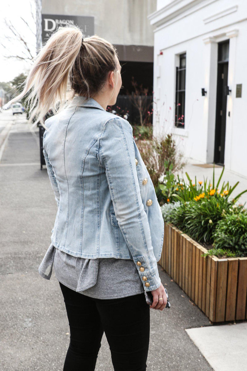 Daria Denim Jacket - BlubellaFashion